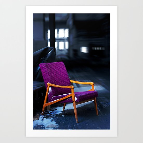 Royal chair Art Print