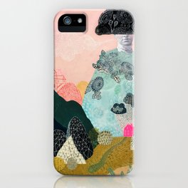 she turned herself into a mountain 2 iPhone Case