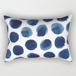 Watercolor polka dots Rectangular Pillow