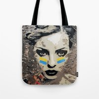 ukraine Tote Bags featuring Ukraine, Stand Up! by AsyaCreativeArt