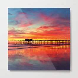 The Pier at Sunset Metal Print