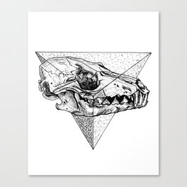 Triangle Sceleton Canvas Print