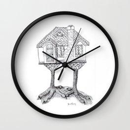 Baba Yaga's House Wall Clock