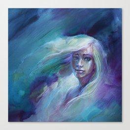Selene in Moonlight Canvas Print