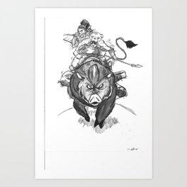 S1: Boar Hunters Art Print