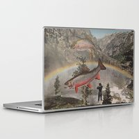 trout Laptop & iPad Skins featuring Rainbow Trout by Mitch Meseke