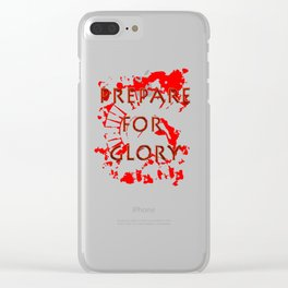 Prepare for Glory-Spartan Warrior Clear iPhone Case