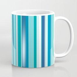 Stripes (Parallel Lines) - White Blue Coffee Mug