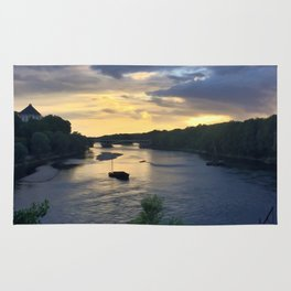 Sunset Sailing on the Loire Rug
