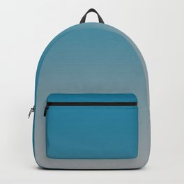 Turquoise Gray Ombre Gradient Backpack