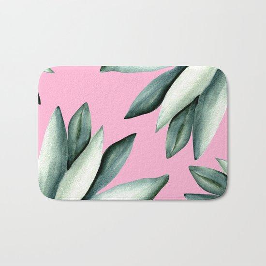 Tropical pattern Bath Mat