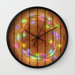 Christmas background Wall Clock