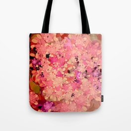 Two Different Worlds -- Floral Pattern Tote Bag