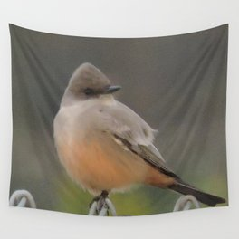 Say's Phoebe at Dusk Wall Tapestry