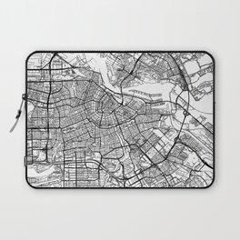 Amsterdam Map White Laptop Sleeve