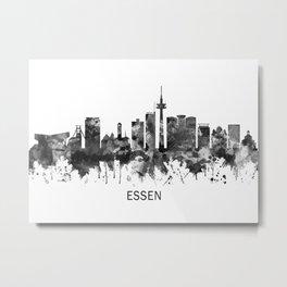 Essen Germany Skyline BW Metal Print