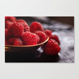 Fresh Raspberries Ayone Canvas Print