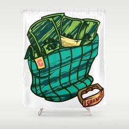 Money Stoked Shower Curtain