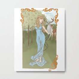 A Fairy Tale Princess Metal Print