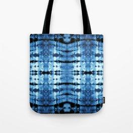 Indigo Satin Shibori Tote Bag