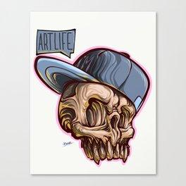 Art Life Skully Canvas Print