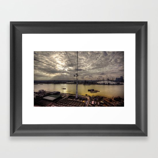 The Thames at Greenwich  Framed Art Print