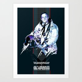 Neil Armstrong Tribute Art Print