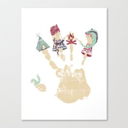 MARSHMALLOWS & CAMPFIRESa Canvas Print