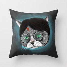 Potter Cat  Throw Pillow