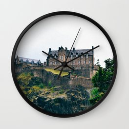 Edinburgh Castle View Wall Clock