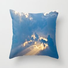 Blessings Rain Down Throw Pillow