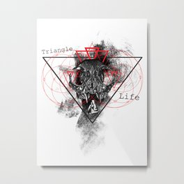 Triangle of life Metal Print
