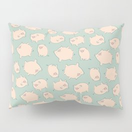small pigs (teal) Pillow Sham