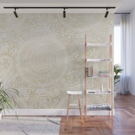 Medallion Pattern in Pale Tan Wall Mural