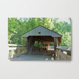 The Covered Bridge at Wildwood Metal Print
