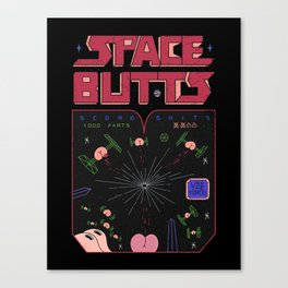Space Butts Canvas Print
