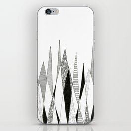 Spikes and Pines (pen on paper) iPhone Skin