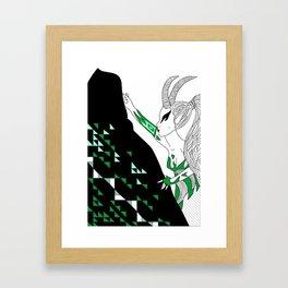 Capricorn / 12 Signs of the Zodiac Framed Art Print