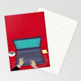 LOVE WORK Stationery Cards