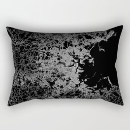 Boston map Rectangular Pillow