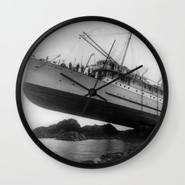 Shipwreck - SS Princess May - August 5, 1910 Wall Clock