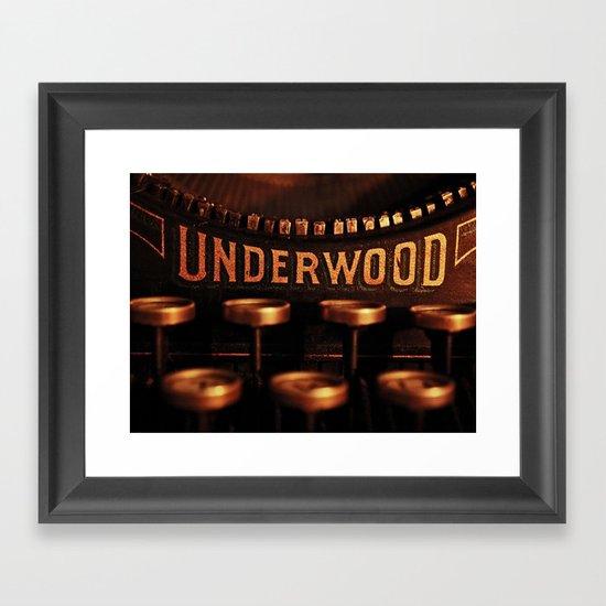 Underwood No. 5 Framed Art Print