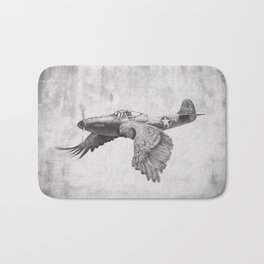 In which it's a bird. It's a plane. Bath Mat