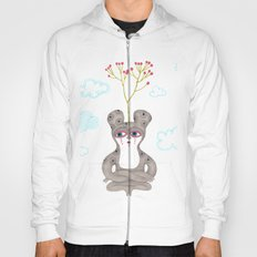 lonely cute creature with rose bush Hoody