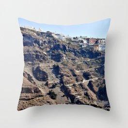 Climb Up Santorini Throw Pillow