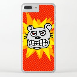 Angry bear Clear iPhone Case