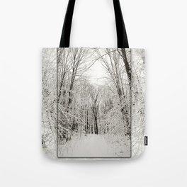 Snow Trail Tote Bag