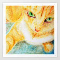 Mango Kitty Art Print
