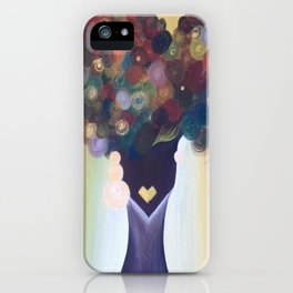 Afro Art, Afro Lady, Afro Queen  iPhone Case