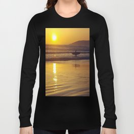 Pismo Beach Surfer in the Sunset Long Sleeve T-shirt